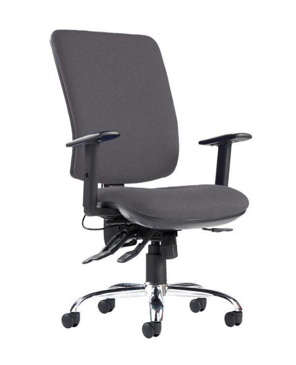 Senza ergo 24hr ergonomic asynchro task chair - Blizzard Grey - Furniture