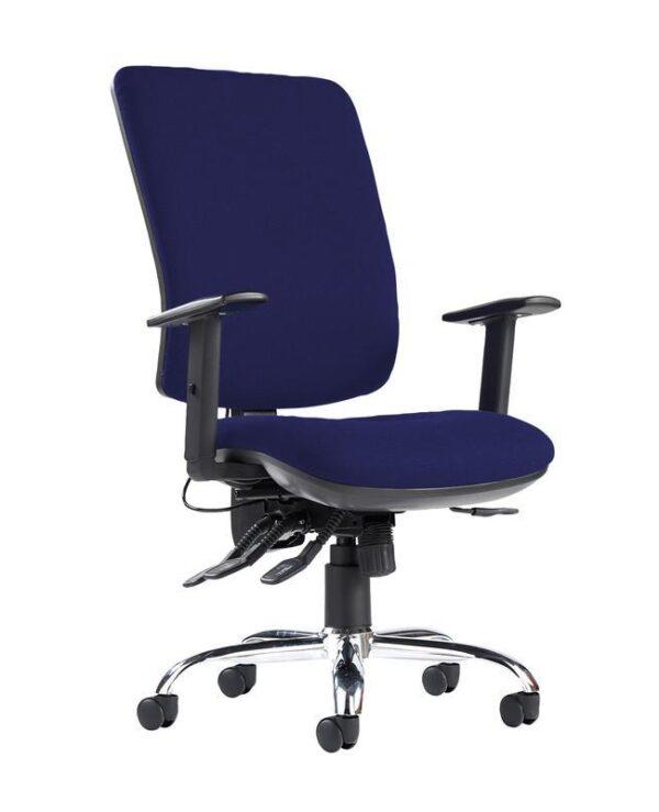 Senza ergo 24hr ergonomic asynchro task chair - Ocean Blue - Furniture