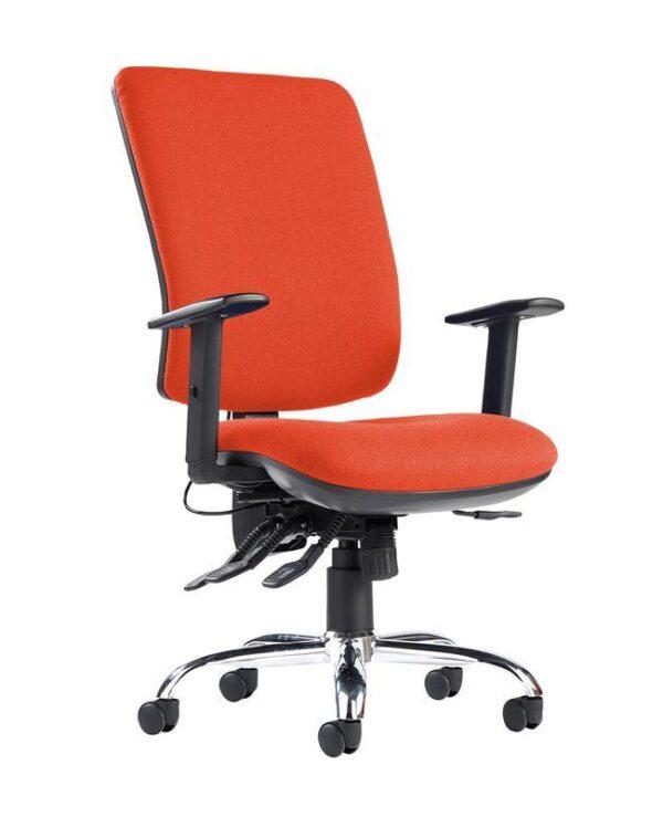 Senza ergo 24hr ergonomic asynchro task chair - Tortuga Orange - Furniture