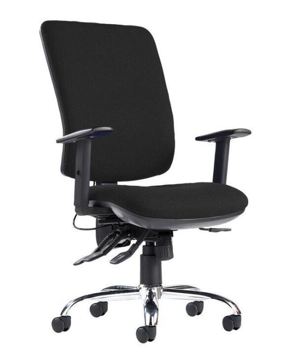 Senza ergo 24hr ergonomic asynchro task chair - black - Furniture