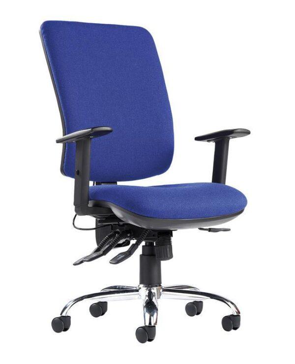 Senza ergo 24hr ergonomic asynchro task chair - blue - Furniture