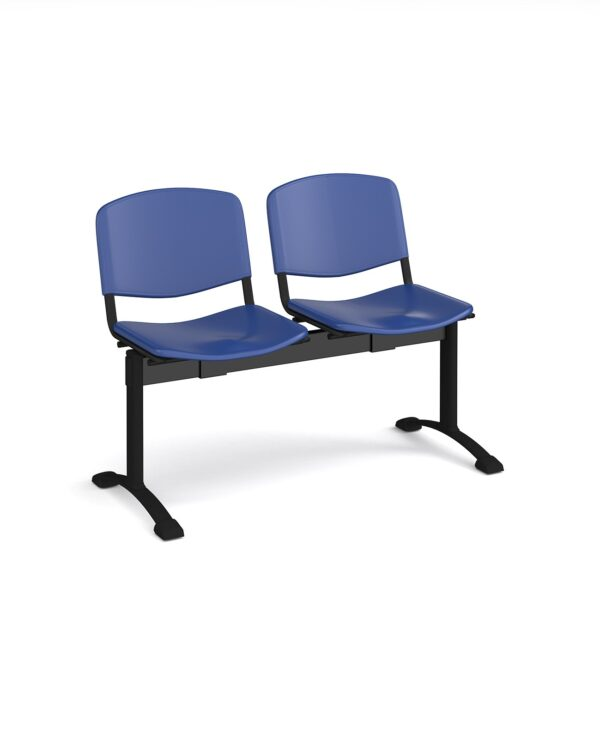Taurus plastic seating - bench 2 wide with 2 seats - blue - Furniture