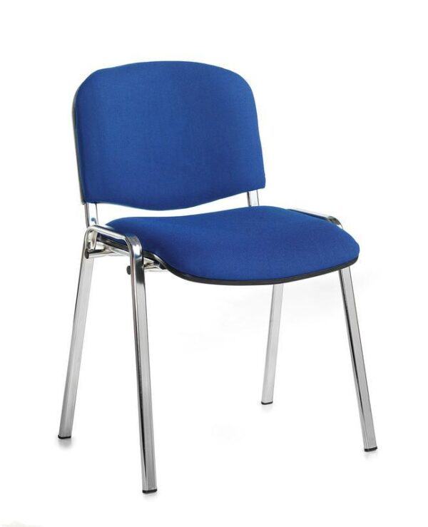 Taurus meeting room stackable chair with black frame and no arms - blue - Furniture