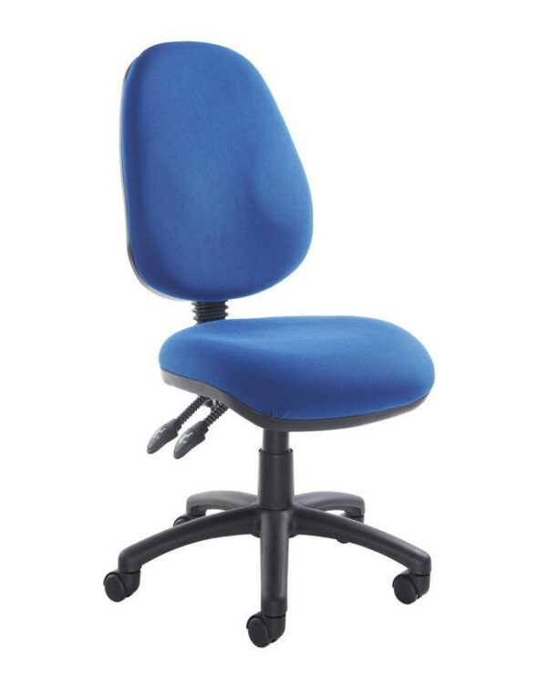 Vantage 100 2 lever PCB operators chair with no arms - blue - Furniture