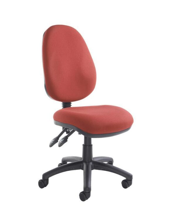 Vantage 100 2 lever PCB operators chair with no arms - burgundy - Furniture