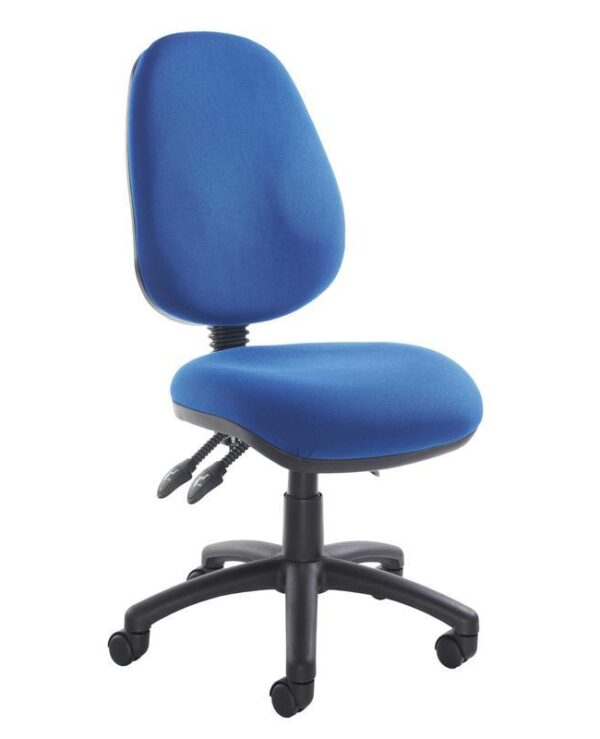 Vantage 200 3 lever asynchro operators chair with no arms - blue - Furniture