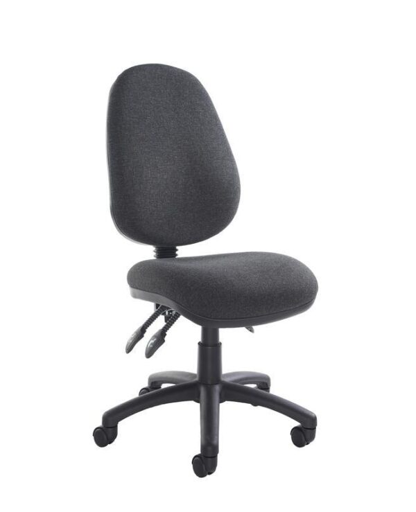 Vantage 200 3 lever asynchro operators chair with no arms - charcoal - Furniture
