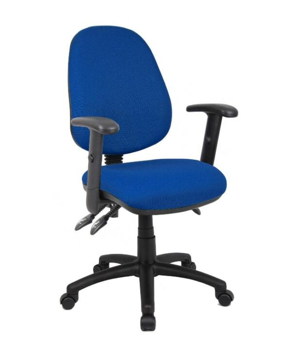 Vantage 200 3 lever asynchro operators chair with adjustable arms - blue - Furniture