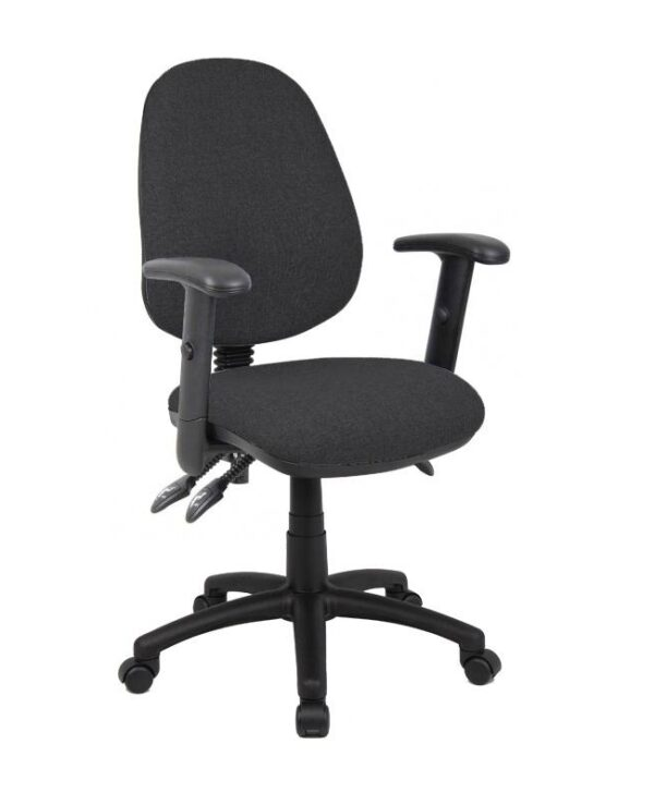 Vantage 200 3 lever asynchro operators chair with adjustable arms - charcoal - Furniture