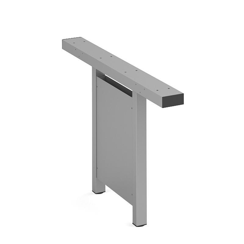 Connex vertical cable riser 1200mm - silver - Furniture