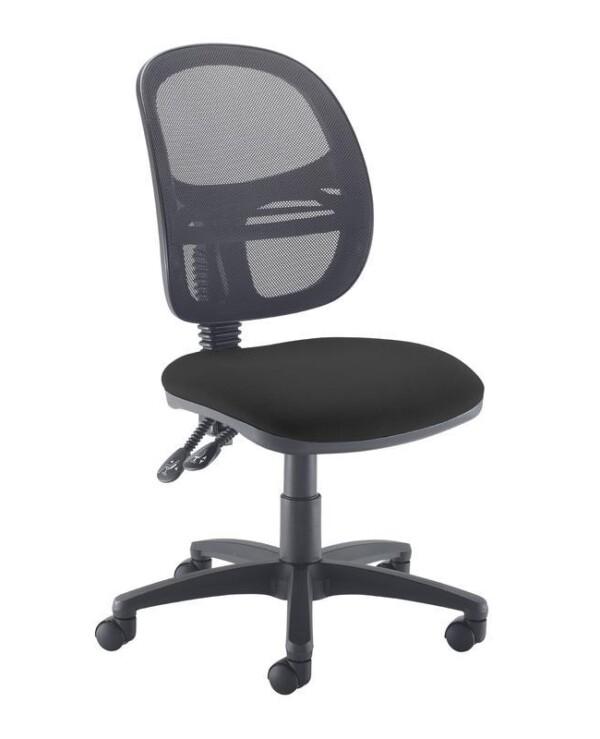 Jota Mesh medium back operators chair with no arms - black - Furniture