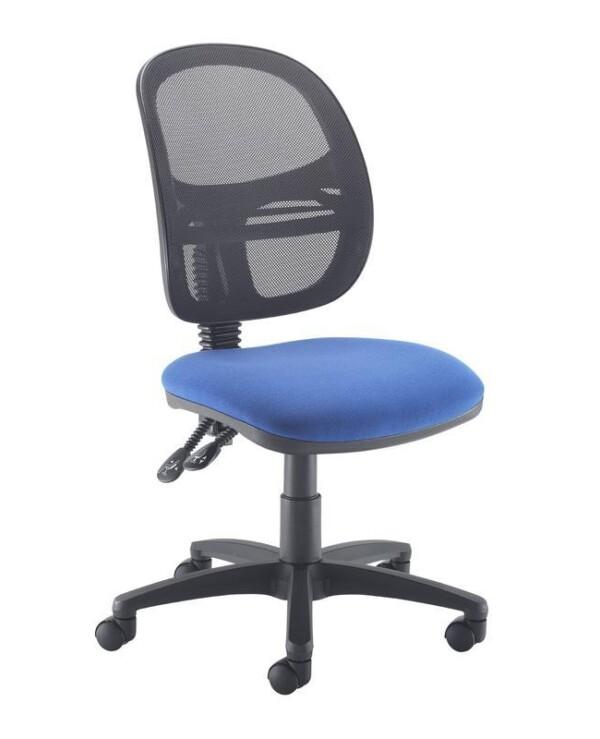 Jota Mesh medium back operators chair with no arms - blue - Furniture