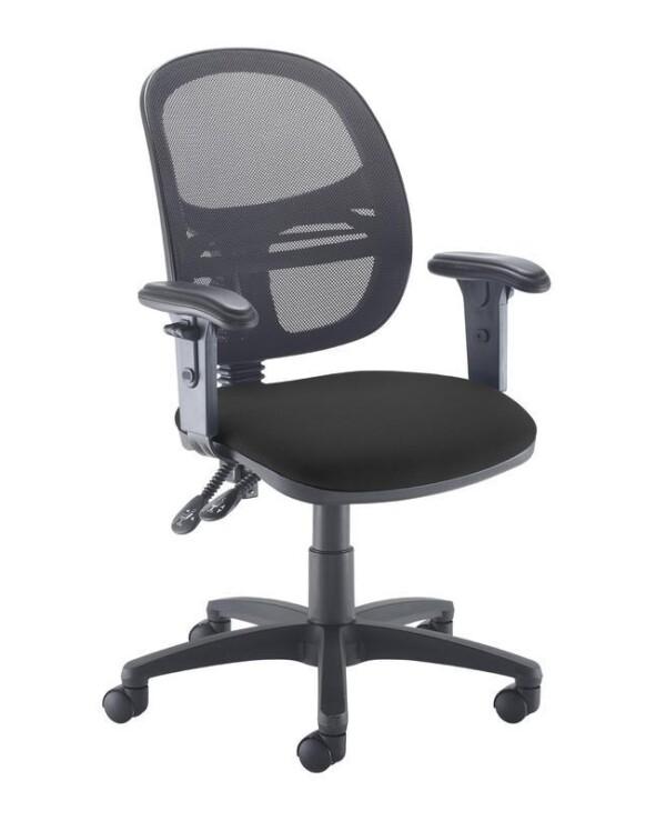 Jota Mesh medium back operators chair with adjustable arms - black - Furniture