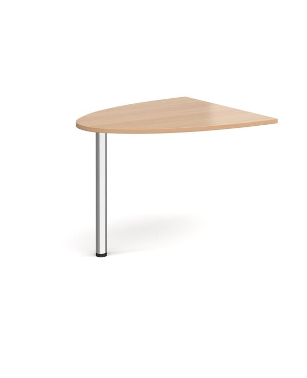 Welcome reception unit D-end extension 1000mm x 888mm - beech - Furniture